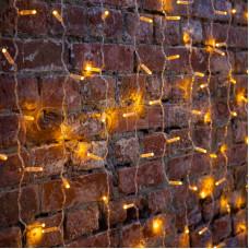 """Гирлянда """"Светодиодный Дождь"""" 2х1,5м, постоянное свечение, прозрачный провод, 220В, диоды ЖЕЛТЫЕ"""
