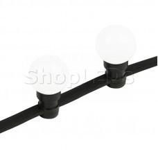 Готовый набор: Евро Belt Light 2 жилы шаг 40 см, Белые LED лампы 45мм (6 LED)