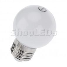 Лампа шар e27 3 LED ∅45мм - белая