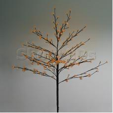 """Дерево комнатное """"Сакура"""", коричневый цвет ствола и веток, высота 1.2 метра, 80 светодиодов теплого белого цвета, трансформатор IP44 NEON-NIGHT"""